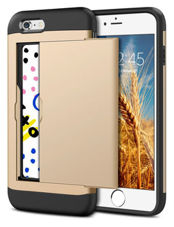 iPhone 7 Plus Wallet Case, Hybrid High Impact Resistant Protective Shockproof Hard Shell with Card Holder Slot Cover iPhone 7 Plus