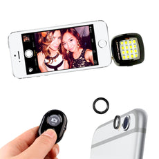 Universal Smartphone Selfie Kit +16 LED Flash Mount