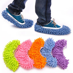 Microfiber Dust Mop Slipper Shoe Office House Floor Bathroom Kitchen Cleaner