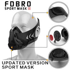 High Altitude Training Mask Fitness HIIT Cardio Oxygen-free Mask