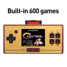 "Retro Pocket Gaming Console - 2.6"" Screen FC Handheld Video Gaming Console with 472 Built in Classic Arcade Games Card"