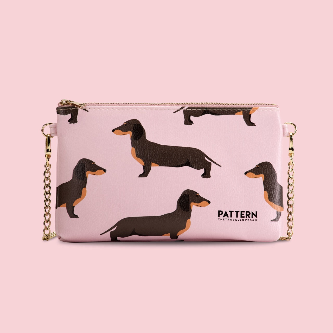 Miss Weekend Dachshunds Pattern pink