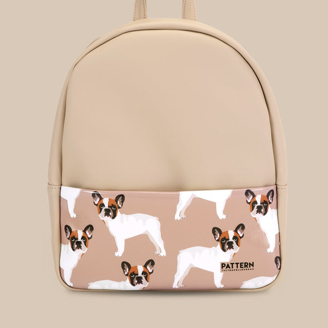 Backpack Bulldog ivory
