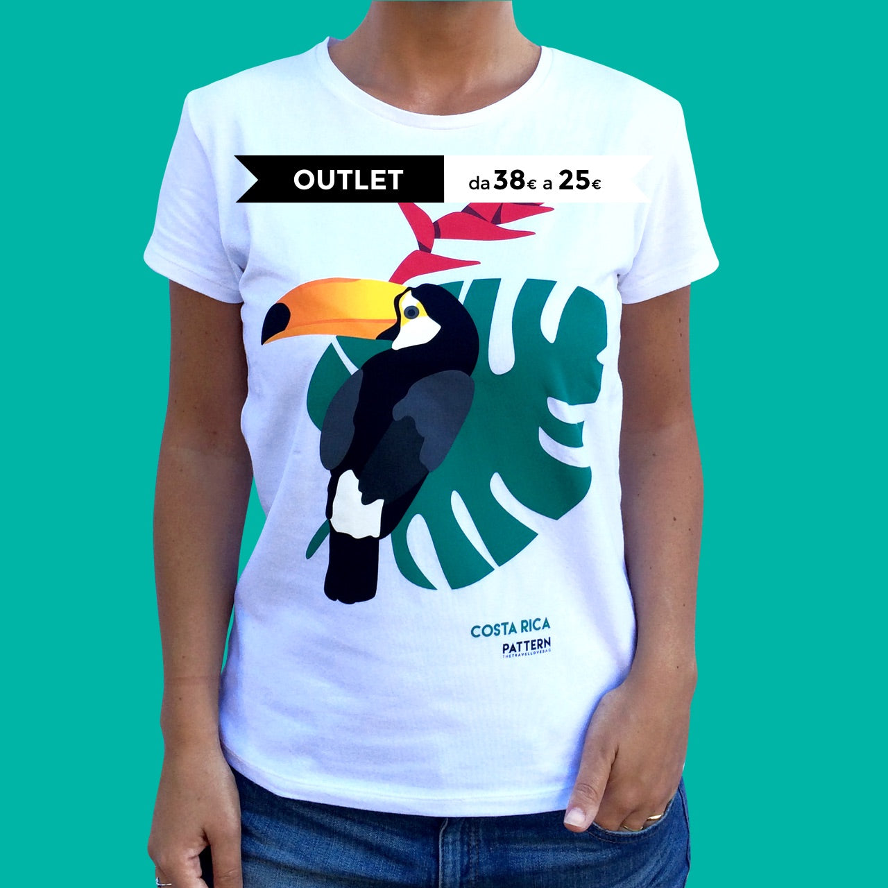 T-shirt Woman Costarica