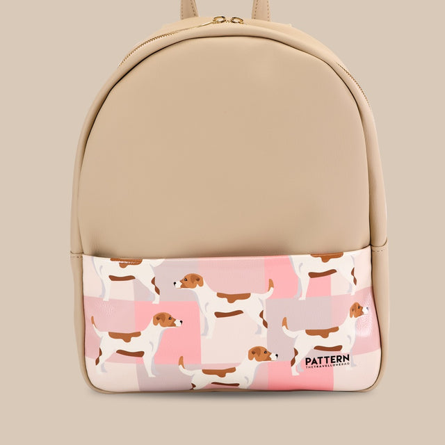Backpack Jack Russell ivory