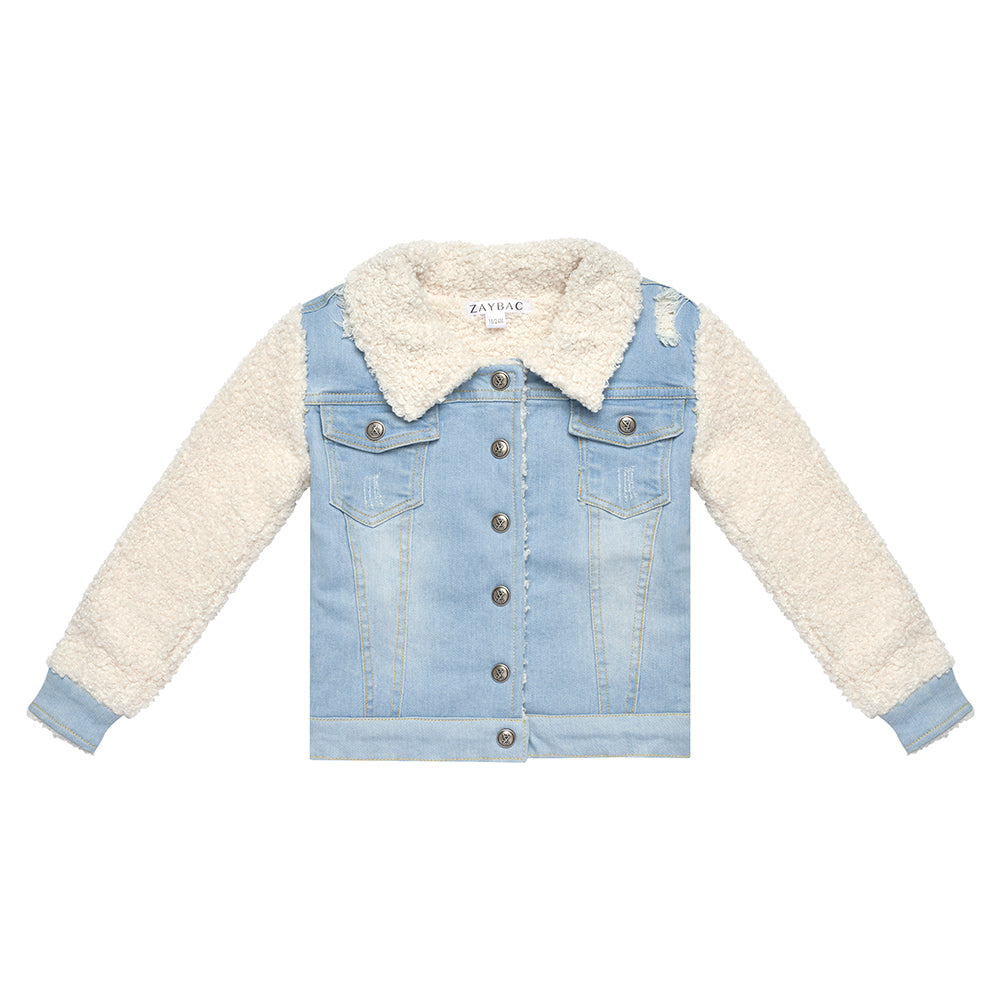 SAMPLE ''ZAYBAC'' DENIM WOOL JACKET - ZAYBAC KIDS