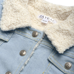 ''ZAYBAC'' DENIM WOOL JACKET - ZAYBAC KIDS