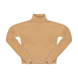 ''LIGHTNING'' MOCK NECK SWEATSHIRT LATTE - ZAYBAC KIDS