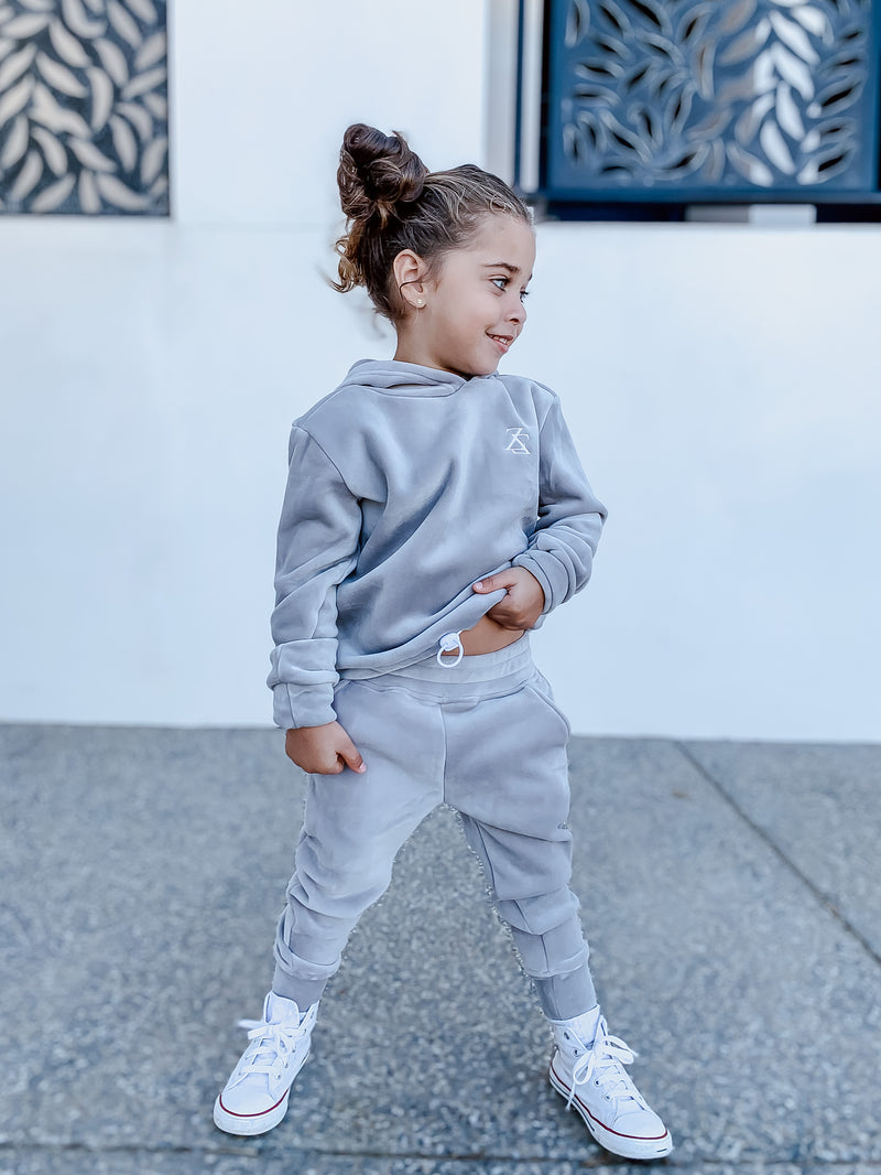 """GRAPHITE"" KIDS VELOUR SWEATPANTS"