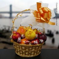 Elegant Classic Fruit – Gold Gift Basket