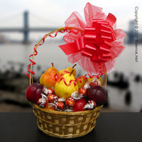 Elegant Classic Fruit – Red Gift Basket