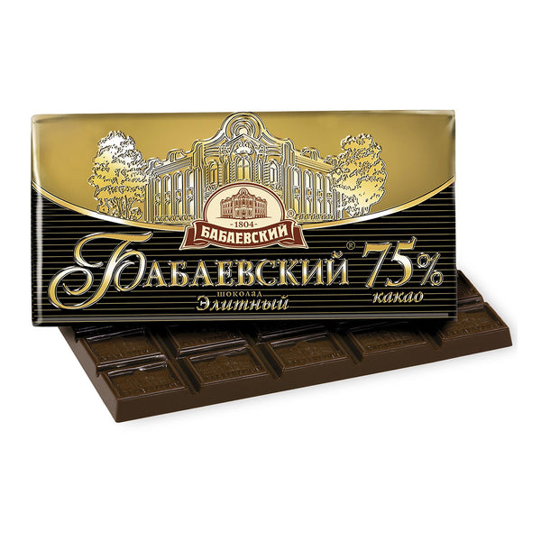 Babayevsky Elite Chocolate 75% Cocoa, 3.52 oz (100 g)