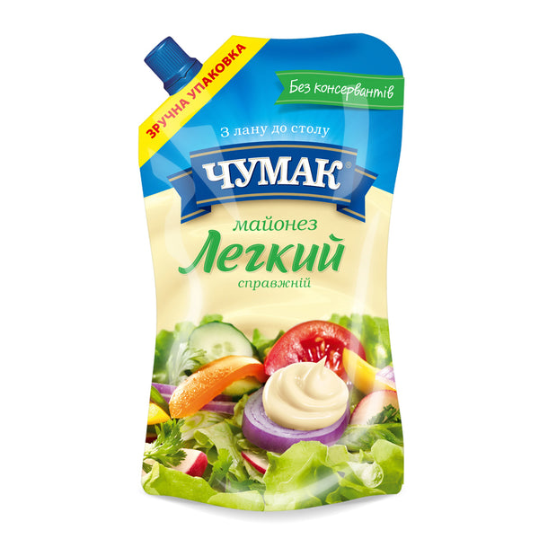 "Mayonnaise Chumak ""Light,"" 12.3 oz (350g)"