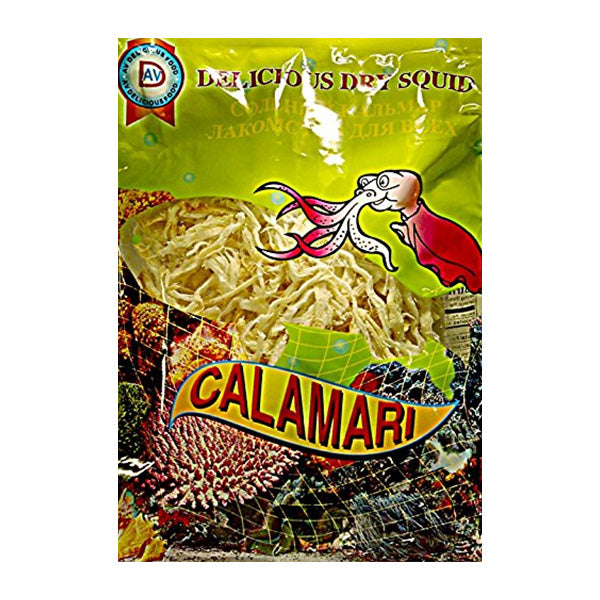 "Delicious Dry Shredded Squid ""Calamari,"" 1.76 oz (50g)"