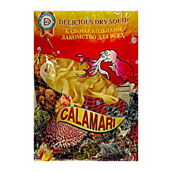 "Delicious Dry Squid Rings ""Calamari,"" 1.76 oz (50g)"