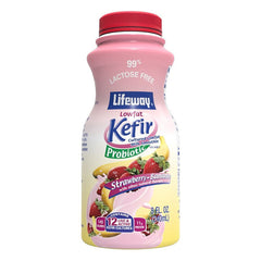 "Lifeway Low Fat Kefir ""Strawberry Banana,"" 8 oz (236ml)"