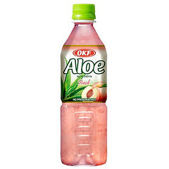 OKF Peach Aloe Drink, 16.9 fl oz (500ml)
