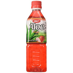 OKF Strawberry Aloe Drink, 16.9 fl oz (500ml)