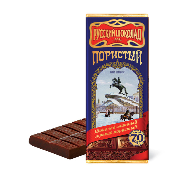 "Russian Aerated ""Bitter"" Chocolate, 3.52 oz (100g)"