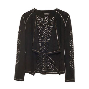 bohemian style jacket real leather