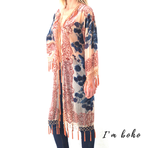 Boho Glam Long Light Pink Caftan
