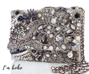 boho handmade evening handbag