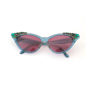 Vintage ZAGATO sunglasses with SWAROVSKI crystals