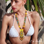 Colombian Handmade Necklace, Vibe of Positivity  by Culture of Hands
