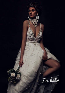 Boho Handmade Wedding Dress