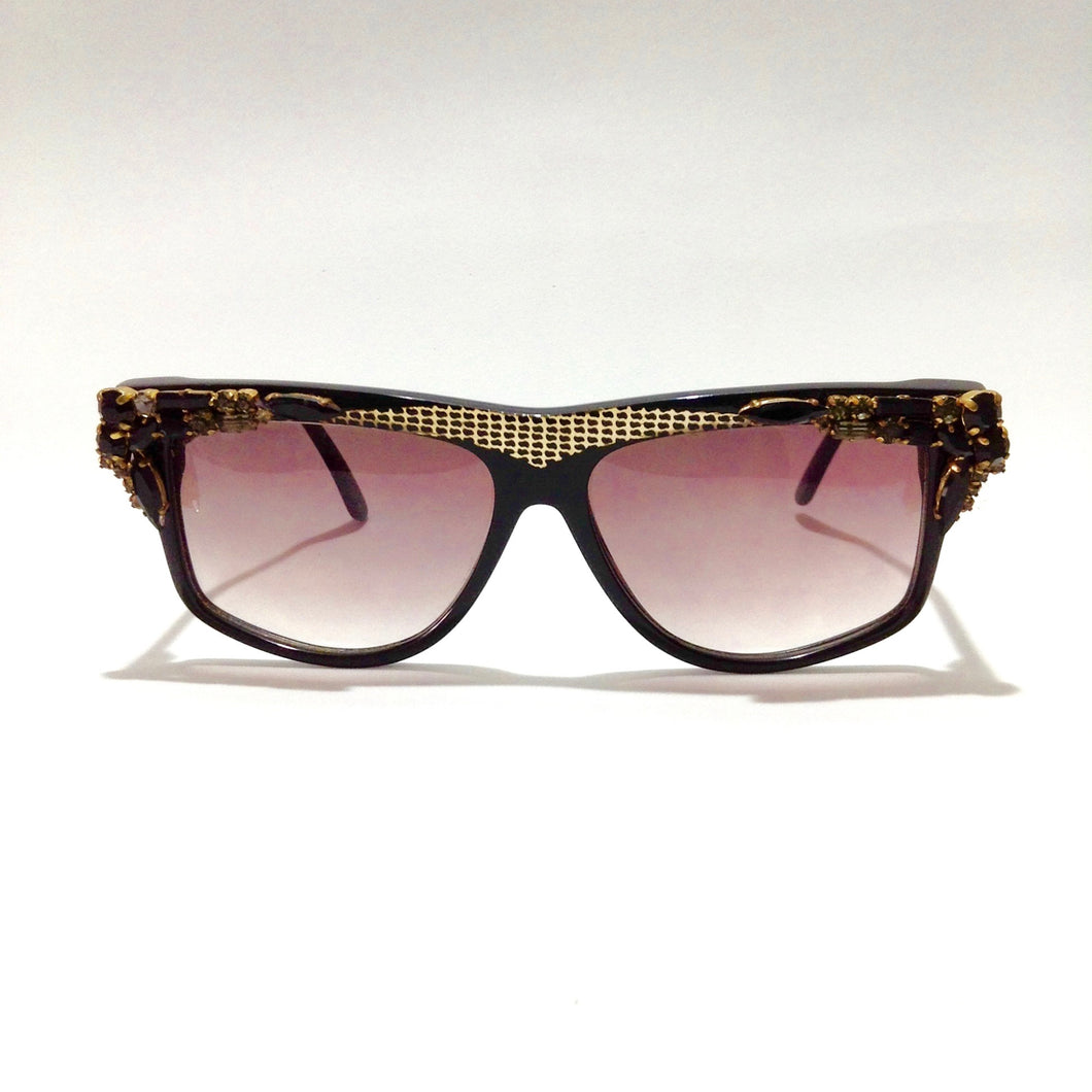 ZAGATO - Black - Vintage Women Handmade  Sunglasses