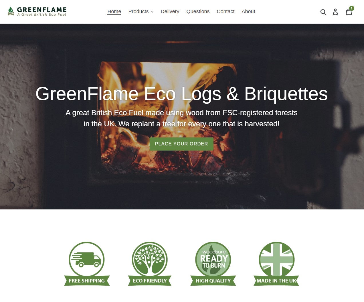 GreenFlame Eco Logs and Briquettes