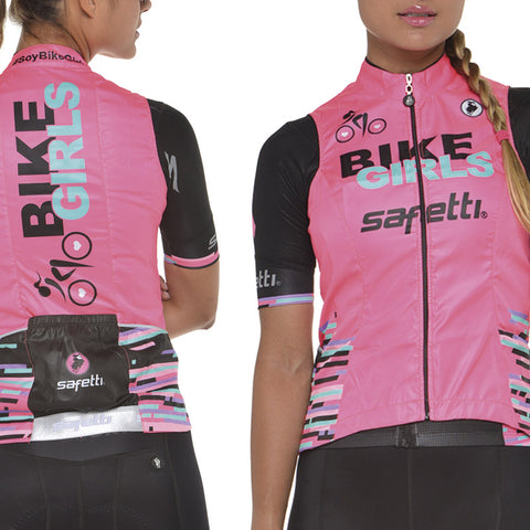 Women's Pink Cycling Vest | Chaleco de Ciclismo Coral