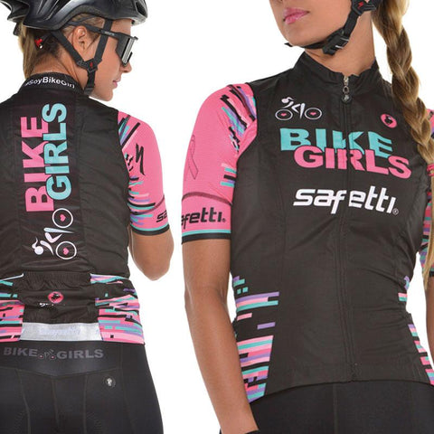 Women's Black Cycling Vest