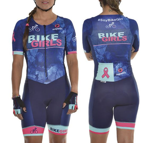 Women's Blue Cycling Skinsuit | Enterizo Ciclismo Mujer en Azul
