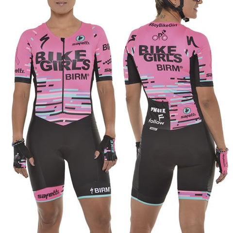 Women's Pink Cycling Skinsuit | Enterizo Ciclismo Mujer en Coral