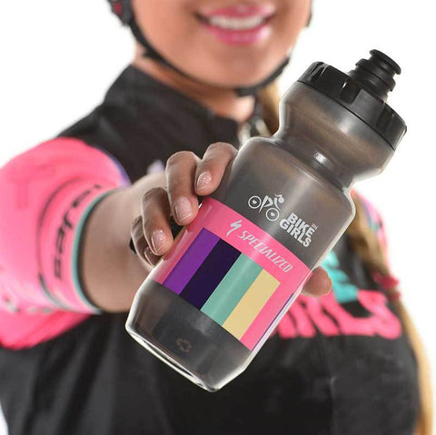 Bike Girls Cycling Waterbottle with Stripes