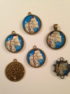 Map & Picture Necklaces