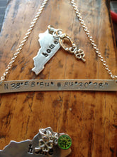 Latitude Longitude Necklace (Handmade Custom Orders)