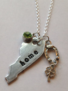 State & Home Stamped Necklaces