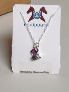 Equestrian Sterling Charm Necklaces (Different Choices Available)
