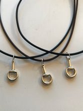 Equestrian Necklaces on Leather Cord w/SS Clasp