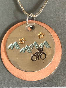 Colorado ❤️ Mountains Bike Necklace
