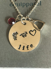 Life Sterling Silver Necklace with Stirrup Charm