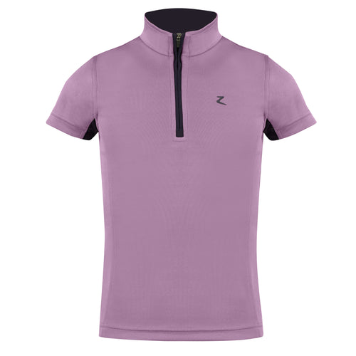 Horze Kids UV Polo Shirt--Grape Purple