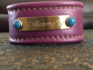 Engraved Name Plate Bracelet Pure Imagination by Kristin