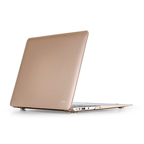 ZinMark Scrub 13 inch Folio Cover Shell Hard Case for [ MacBook Air 13.3 inch ] (Model: A1369 & A1466 ) -Golden