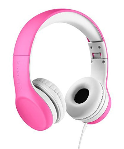 LilGadgets Connect+ Premium Volume Limited Wired Headphones with SharePort for Children - Pink