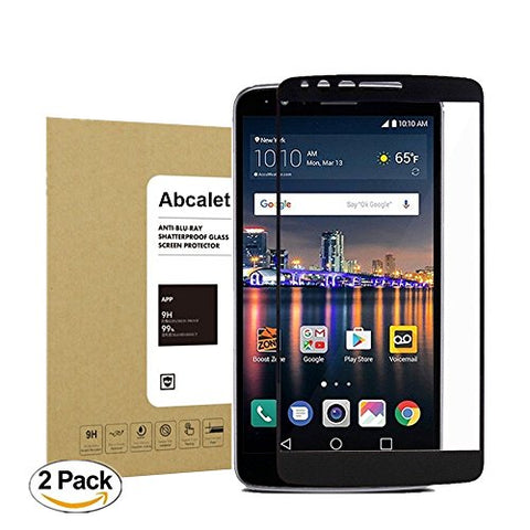 LG Stylo 3 LS777/ Stylo 3 Plus TP450 ,Abcalet [2Pack] [Bubble-Free][Anti-Scratch] Anti-Fingerprint 9H Hardness HD Clear Premium Tempered Screen Protector for for LG Stylus 3/ LG LS777 [5.7 Inch]