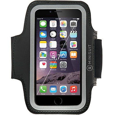 Minisuit Sporty Armband Key Holder for iPhone 7, 6s, 6 Black