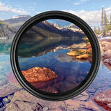 ZOMEi 49mm Ultra Slim ND2-ND400 Fader Variable Neutral Density Adjustable Lens Filter Ultra Slim ND Filter Optical Glass